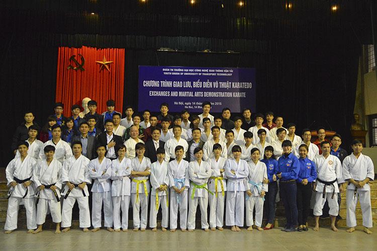 Chương trình Giao lưu, biểu diễn Võ thuật Karatedo giữa Sinh viên Đại học Công nghệ GTVT và các Võ sư Nhật Bản năm 2015.