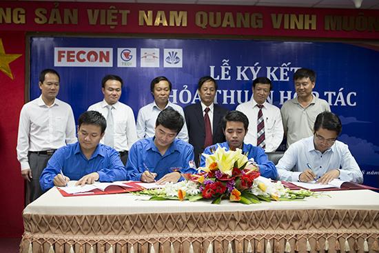 Ký kết hợp tác giữa FECON UTT và TEDI 2014