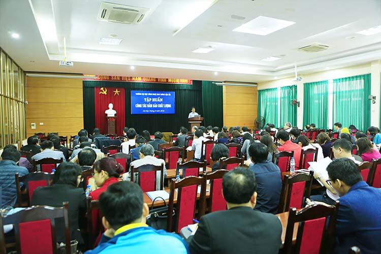 Lớp tập huấn thu hút hơn 150 CB-GV-CNV Nhà trường tham gia